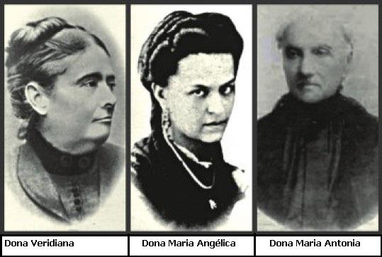 Angélica, Antonia e Veridiana